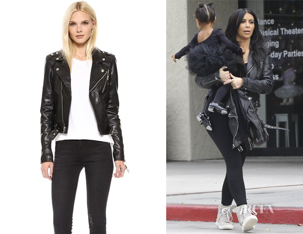 Kim Kardashian's BLK DNM Classic Biker Jacket