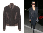 Kim Kardashian's Haider Ackermann Suede Bomber Jacket