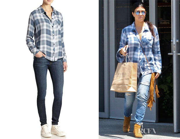 Kourtney Kardashian's Rails 'Hunter' Plaid Shirt