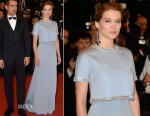 Léa Seydoux In Miu Miu - 'The Lobster' Cannes Film Festival Premiere