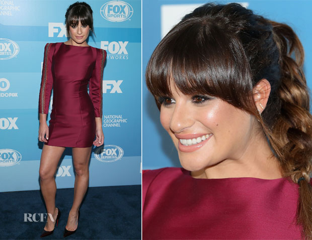 Lea Michele In Zuhair Murad - 2015 FOX Programming Presentation