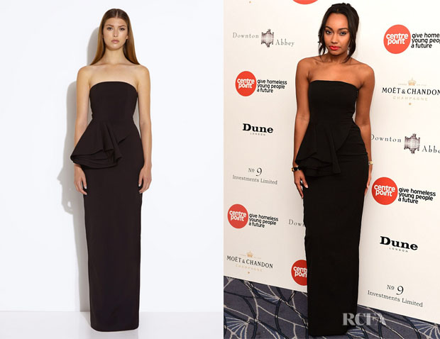 Leigh-Anne Pinnock's AQ/AQ 'Sash' Peplum Maxi Dress