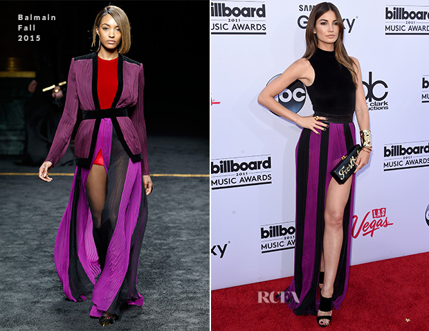 Lily Aldridge In Balmain - 2015 Billboard Music Awards