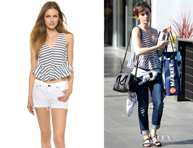 Lily Collins' Elizabeth and James 'Chester' Crop Top