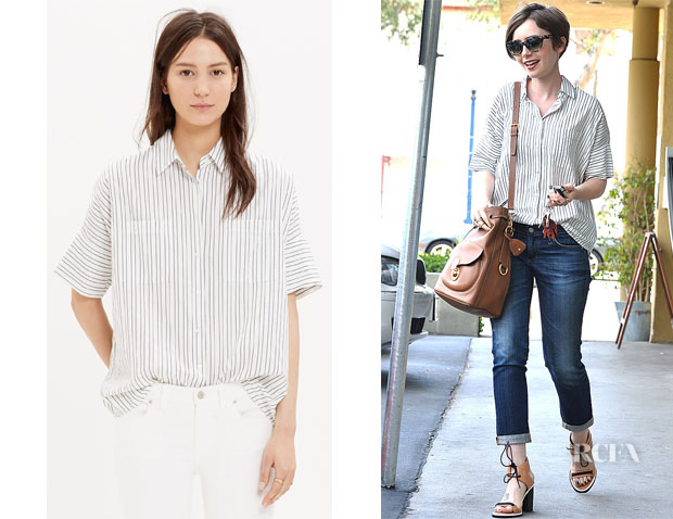 Lily Collins' Madewell 'Courier' Shirt