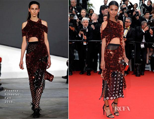 Liya Kebede In Proenza Schouler - 'Mad Max Fury Road' Cannes Film Festival Premiere