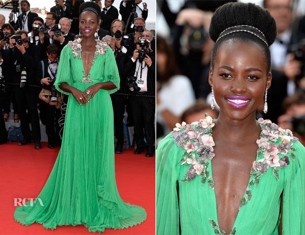 Lupita Nyongo In Gucci - 'La Tete Haute' Cannes Film Festival Premiere & Opening Ceremony