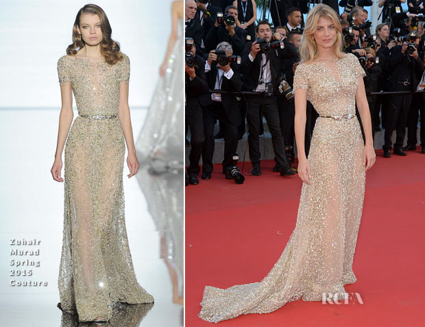 Mélanie Laurent In Zuhair Murad Couture - 'Inside Out' Cannes Film Festival Premiere
