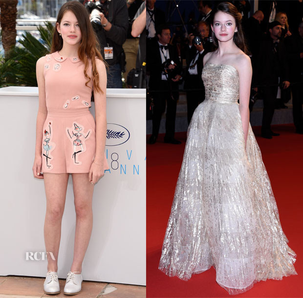 mackenzie foy in red valentino amp oscar de la renta   the
