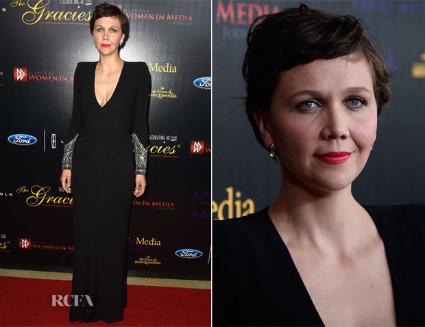Maggie Gyllenhaal In Alexander McQueen - 40th Anniversary Gracies Awards