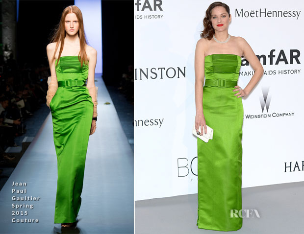 Marion Cotillard In Jean Paul Gaultier Couture - 2015 amfAR Cinema Against AIDS Gala