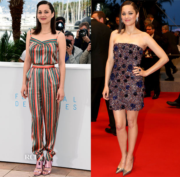 Marion Cotillard In Ulyana Sergeenko Demi Couture & Christian Dior Couture - 'Macbeth' Photocall & Premiere