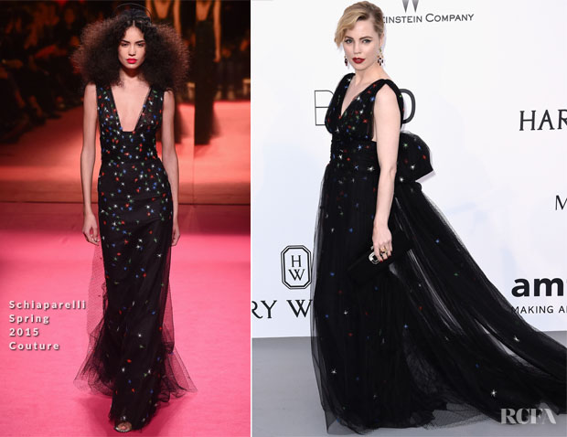 Melissa George In Schiaparelli Couture - 2015 amfAR Cinema Against AIDS Gala