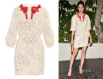 Michelle Monaghan's Giambattista Valli Embellished Fil-Coupé Organza Dress