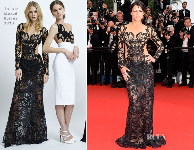 Michelle Rodriguez In Zuhair Murad -  'Mad Max Fury Road' Cannes Film Festival Premiere