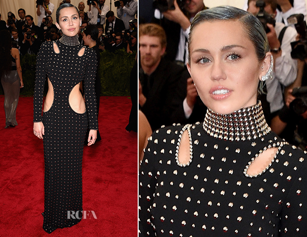 Miley Cyrus In Alexander Wang - 2015 Met Gala