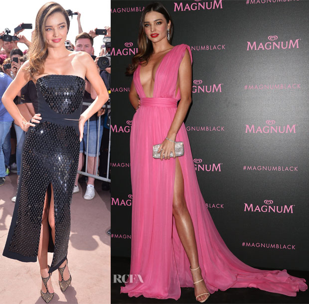 Miranda Kerr In David Koma &  Emanuel Ungaro - Magnum Press Conference & Magnum Black and Pink Launch Party