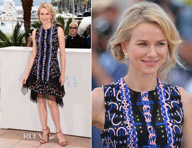 Naomi Watts In Peter Pilotto - 'The Sea Of Trees' Cannes Film Festival Photocall