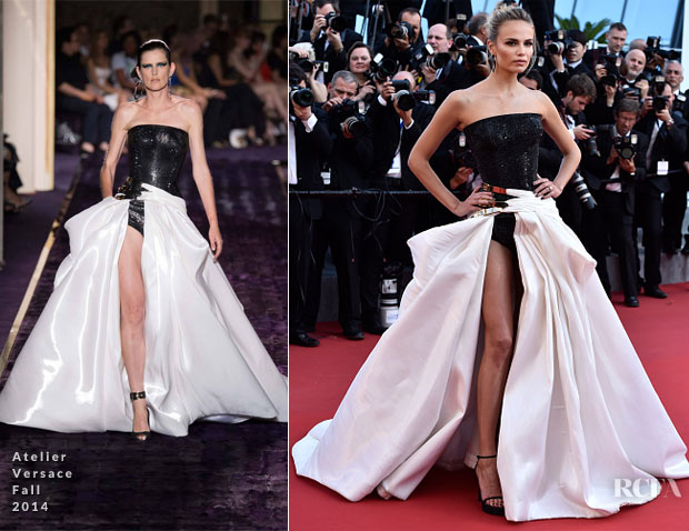 Natasha Poly In Atelier Versace- 'Carol' Cannes Film Festival Premiere