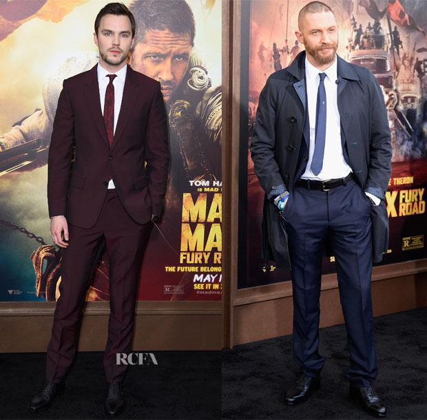 Nicholas Hoult  & Tom Hardy In Alexander McQueen - 'Mad Max Fury Road' LA Premiere