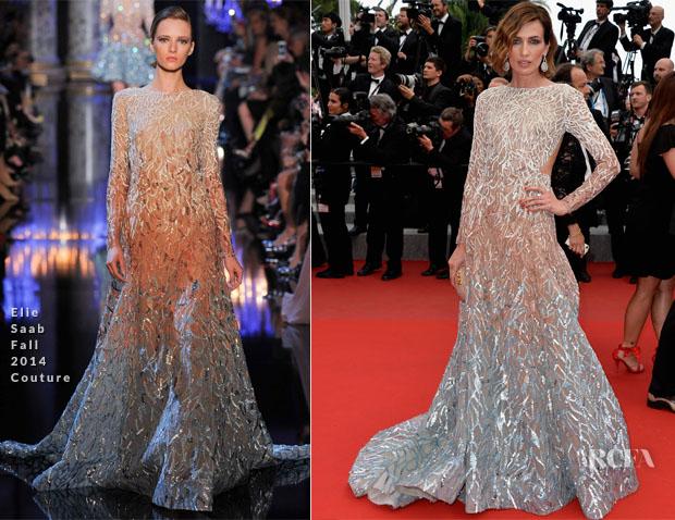 Nieves Alvarez In Elie Saab Couture - 'Sicario' Cannes Film Festival Premiere