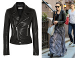 Olivia Wilde's Balenciaga Leather Biker Jacket