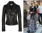 Olivia Wilde's Balenciaga Leather Biker Jacket