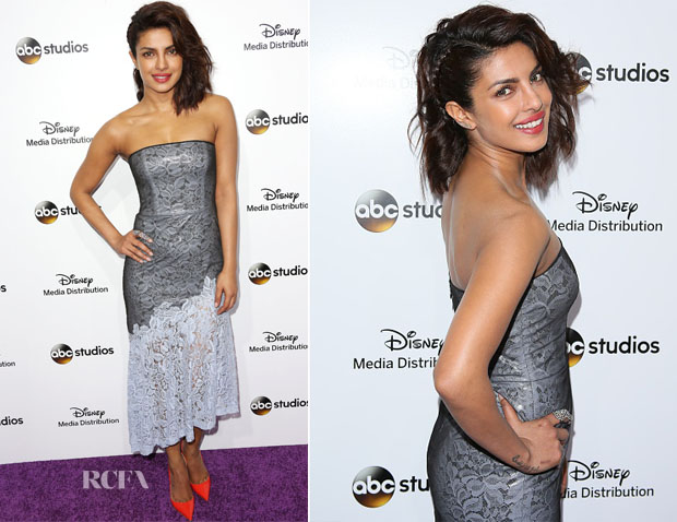 Priyanka Chopra In  Monique Lhuillier - Disney Media Distribution International Upfronts