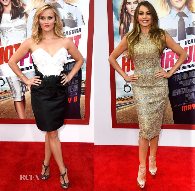 Reese Witherspoon In Prabal Gurung & Sofia Vergara -'Hot Pursuit' LA Premiere