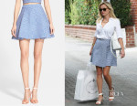 Reese Witherspoon's Alice + Olivia 'Vernon' Jacquard Flared Skirt