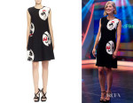 Rosamund Pike's Alexander McQueen Knit Circle-Print Dress