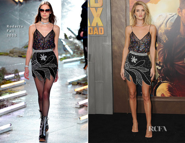 Rosie Huntington-Whiteley In Rodarte - 'Mad Max Fury Road' LA Premiere
