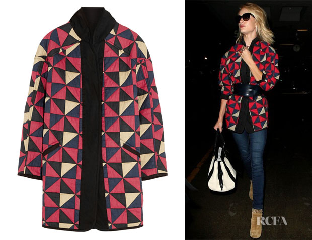 Rosie Huntington-Whiteley's Étoile Isabel Marant 'Enid' Reversible Coat