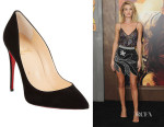 Rosie Huntington-Whiteley's Christian Louboutin 'So Kate' Suede Pumps
