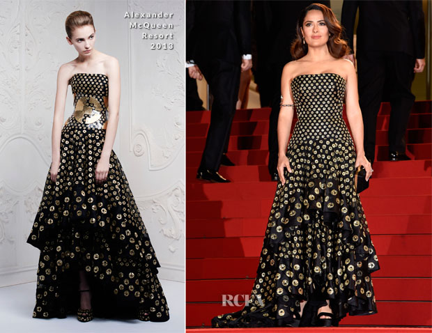 Salma Hayek In Alexander McQueen - 'Il Racconto Dei Racconti' ('Tale of Tales') Cannes Film Festival Photocall
