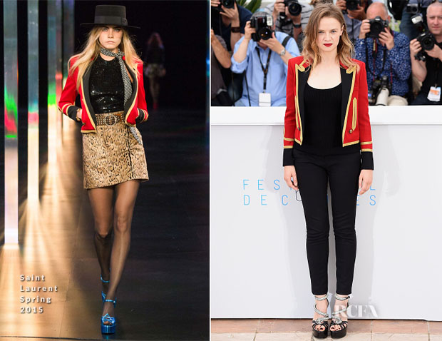 Sara Forestier In Saint Laurent - 'La Tete Haute ('Standing Tall') Cannes Film Festival Photocall