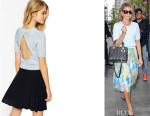 Sarah Hyland's ASOS Knitted Crop Top With Open Back