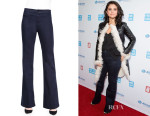 Selena Gomez' J Brand Tailored High-Rise Flared Denim Trousers