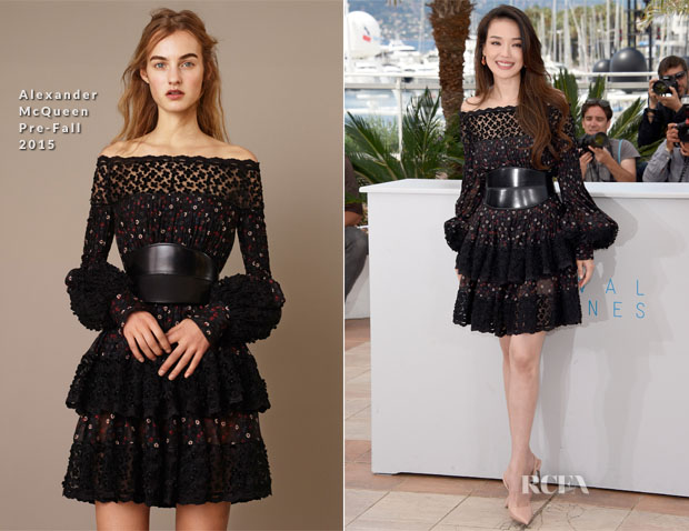 Shu Qi In Alexander McQueen - 'Nie Yinniang' Cannes Film Festival Photocall
