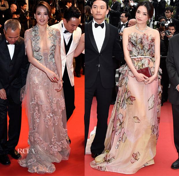 Shu Qi In Reem Acra & Elie Saab - 'Nie Yinniang' Premiere &'La Glace Et Le Ciel' Premiere & Closing Ceremony