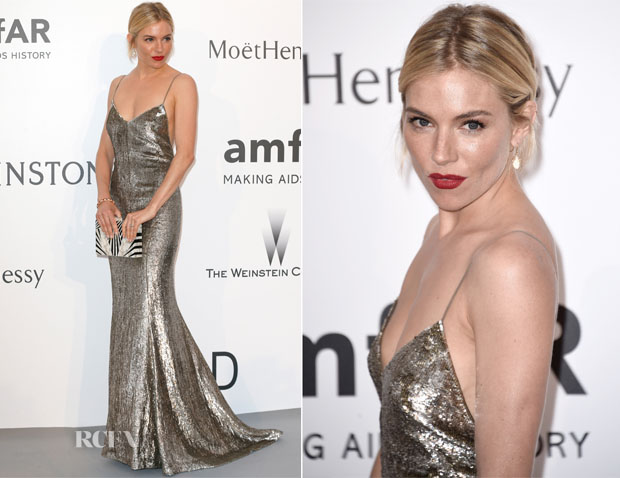 Sienna Miller In Ralph Lauren - 2015 amfAR Cinema Against AIDS Gala