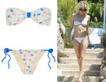 Sienna Miller's Solid and Striped + Poppy Delevingne Printed Bandeau Bikini