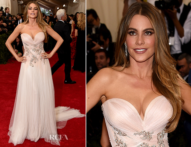Sofia Vergara In Marchesa - 2015 Met Gala