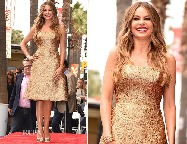Sofia Vergara In Romona Keveza - Hollywood Walk of Fame