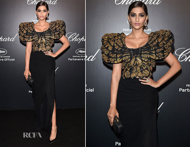 Sonam Kapoor In Abu Jani Sandeep Khosla - Chopard Party