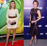 Sophia Bush In Jill Stuart & Monique Lhuillier - 2015 NBC Upfront Presentation Red Carpet Event & Party