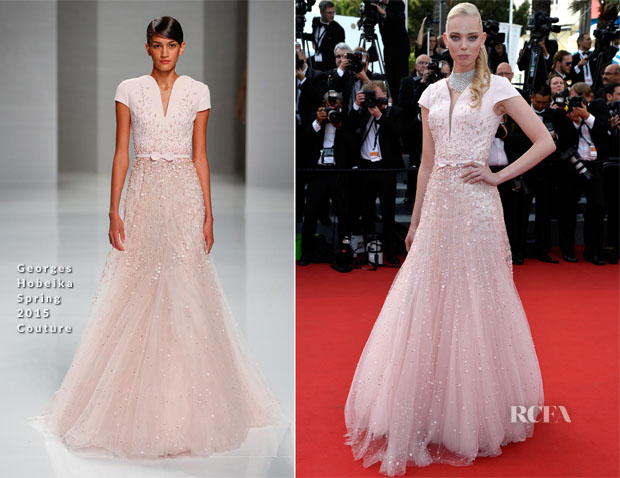 Tanya Dziahileva In Georges Hobeika Couture -  'La Tete Haute' Cannes Film Festival Premiere & Opening Ceremony