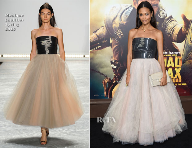 Thandie Newton In Monique Lhuillier -  'Mad Max Fury Road' LA Premiere
