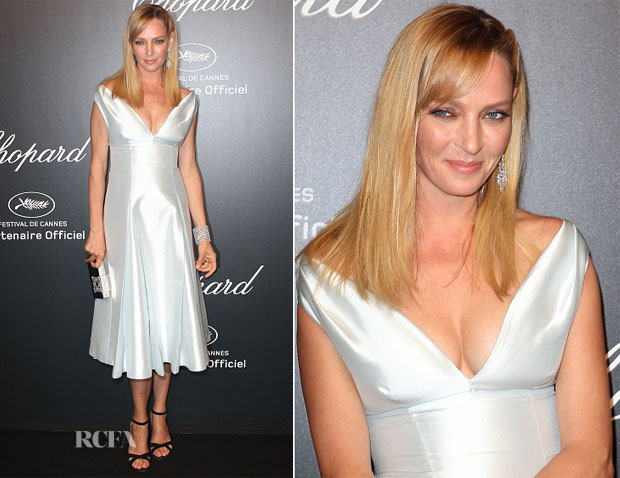 Uma Thurman In Prada - Chopard Party