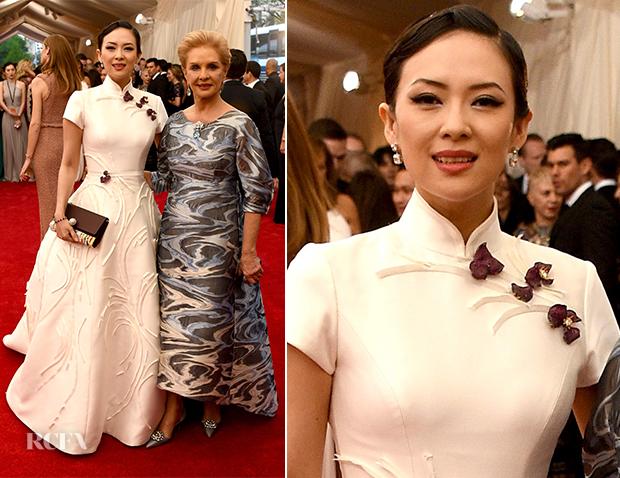 Zhang Ziyi In Carolina Herrera - 2015 Met Gala